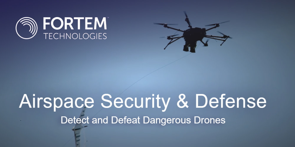Fortem Technologies Conducts Counter Drone Test For US Department Of Defense Customer