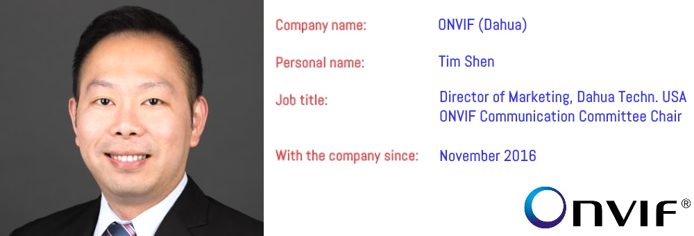 ONVIF Comm. Committee Chair Tim Shen