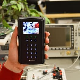 RFID reader with display and secure OSDPv2 data protocol