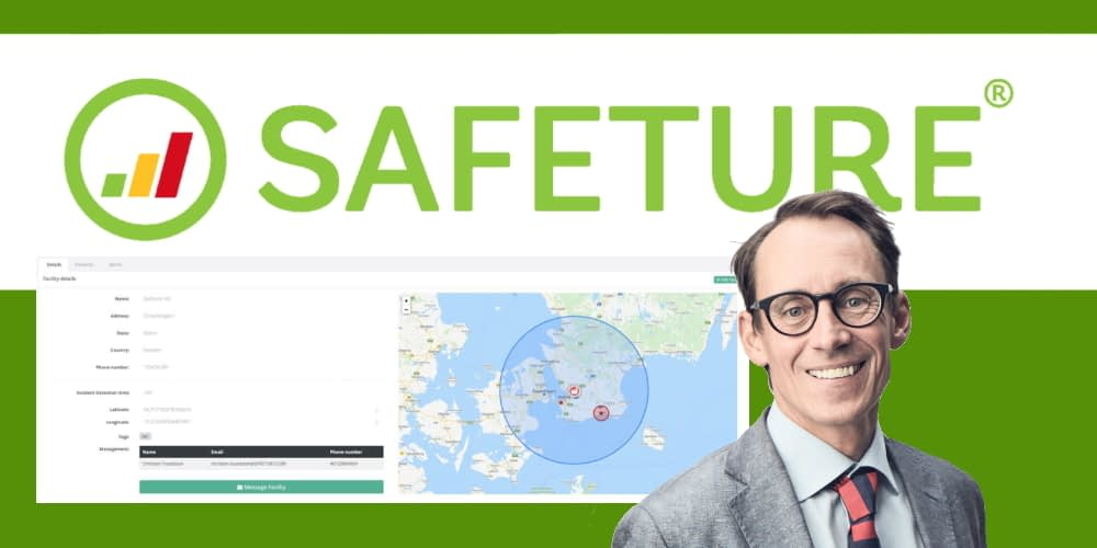 Magnus Hultman, CEO of Safeture with the Facilities tool