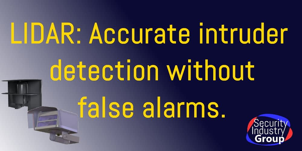 LIDAR ACcurate intruder detection without false alarms