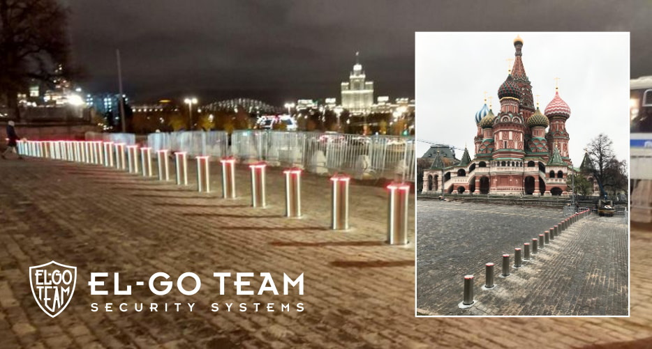 ELGO-TEAM bollards installed on the Red Square in Moscow