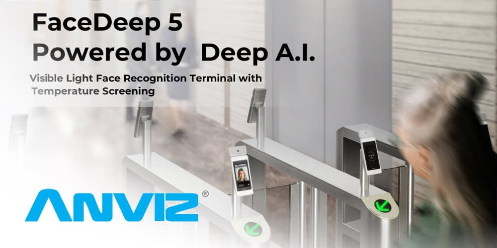ANVIZ Biometric face terminal with mask and temperature alerts helps create confidence that it's safe to return to work and school