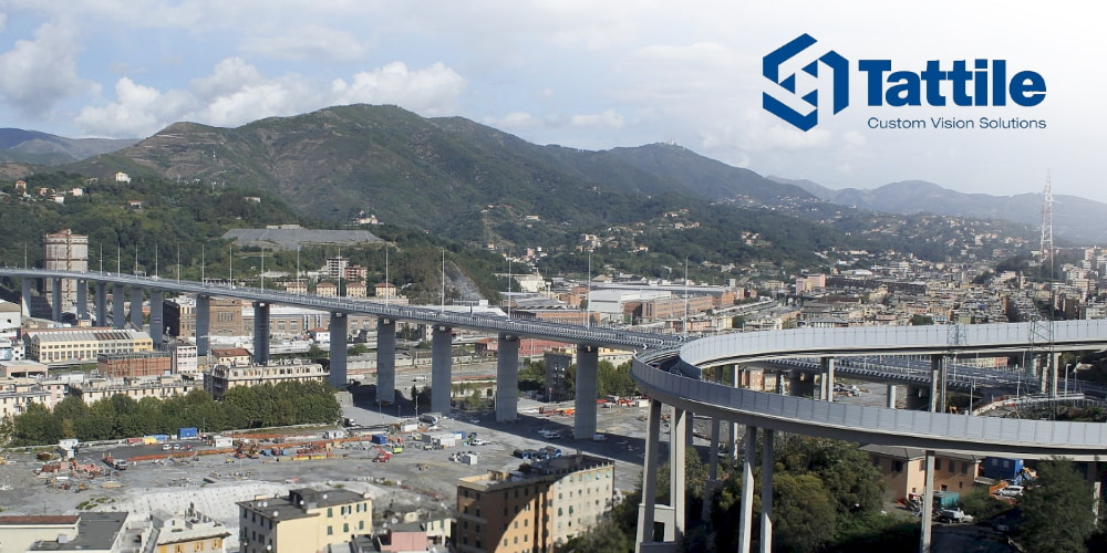 Tattile ANPR Cameras part of safety system of new bridge in Genoa