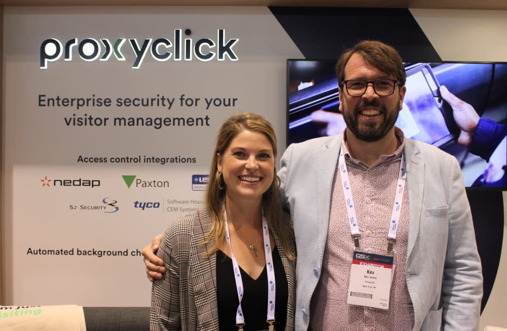 Emily Thrasher and Kev Jones of Proxyclick