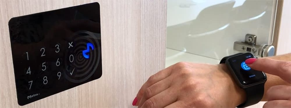 Metra Locker Management with wearable