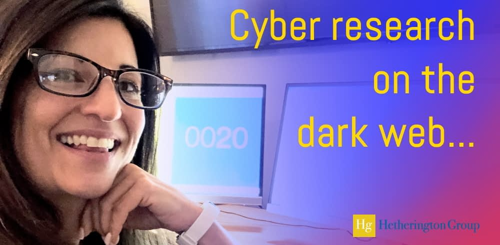Banner Hetherington Group Cyber research on the dark web