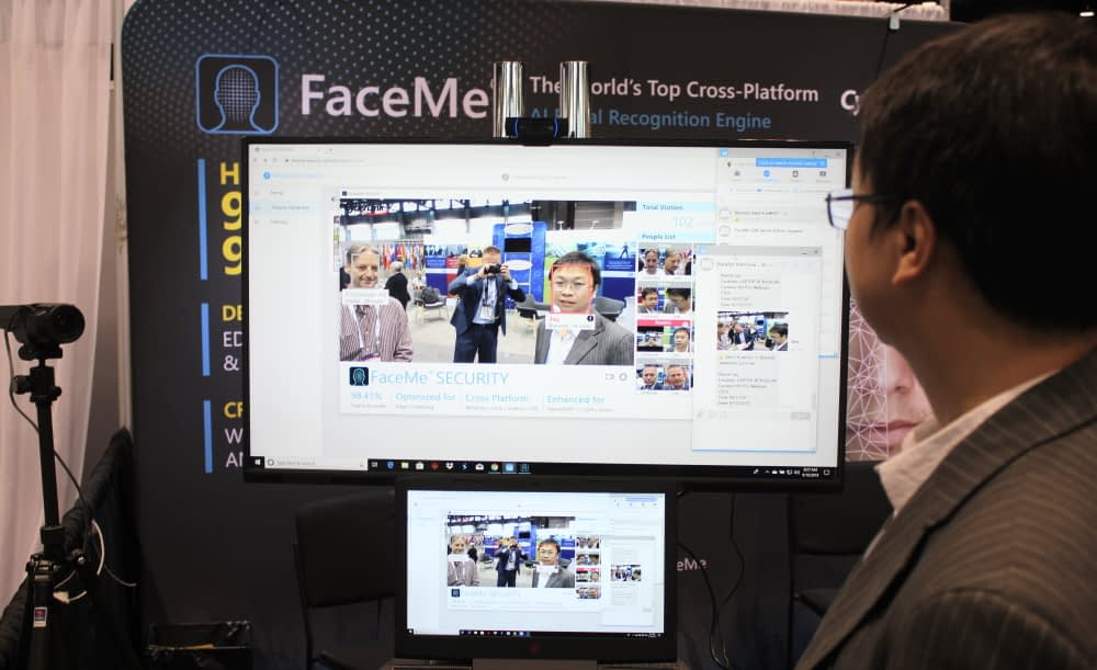 Jay Cheng of CyberLink demonstrates FaceMe